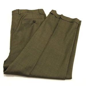 Zanella Mens 38 x 27 Austin 100% Wool Dress Pants